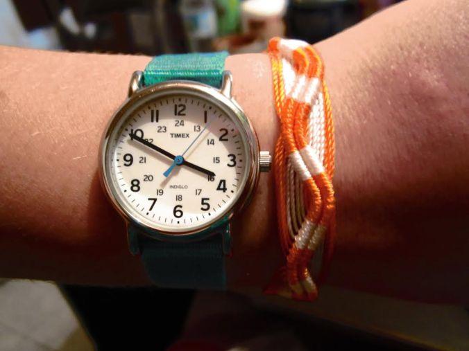 Orange bracelet from Hermana Resquin